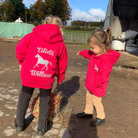 Personalised Children's Horse Riding Hoodie