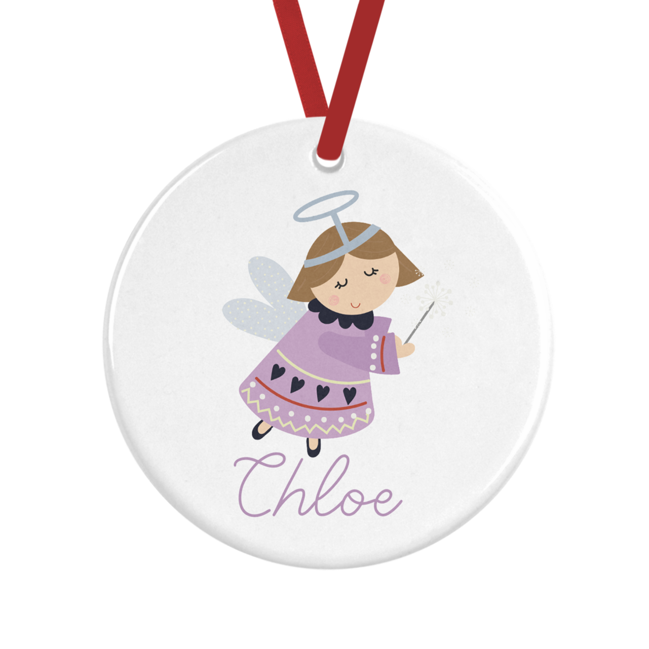 Personalised Fairy Christmas Decoration