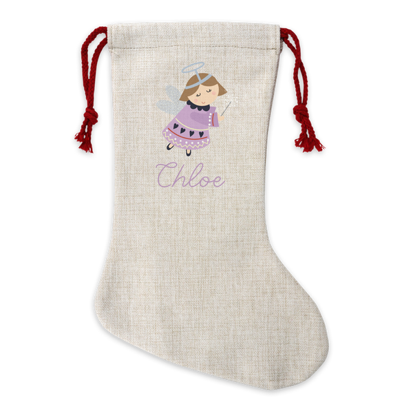 Personalised Fairy Linen Stocking