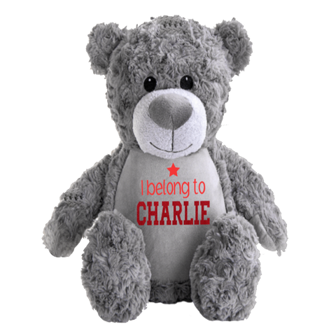 Personalised Grey Teddy Bear Rachel J Designs