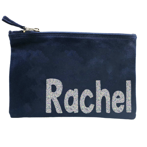Personalised Glitter Pouch/ Make up Bag/ Pencil Case
