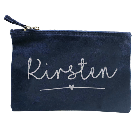 Personalised Glitter Named Pouch/ Make up Bag/ Pencil Case