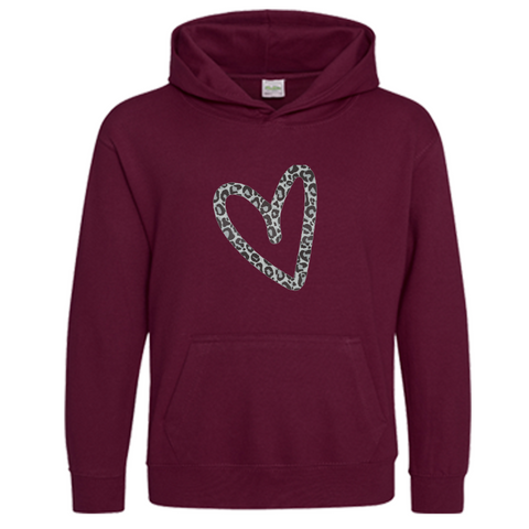 Children's heart Hoodie Matching Adults also Available Rachel J Design