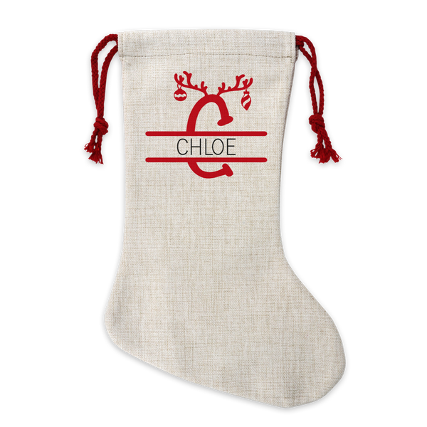 Personalised Reindeer Monogram Stocking
