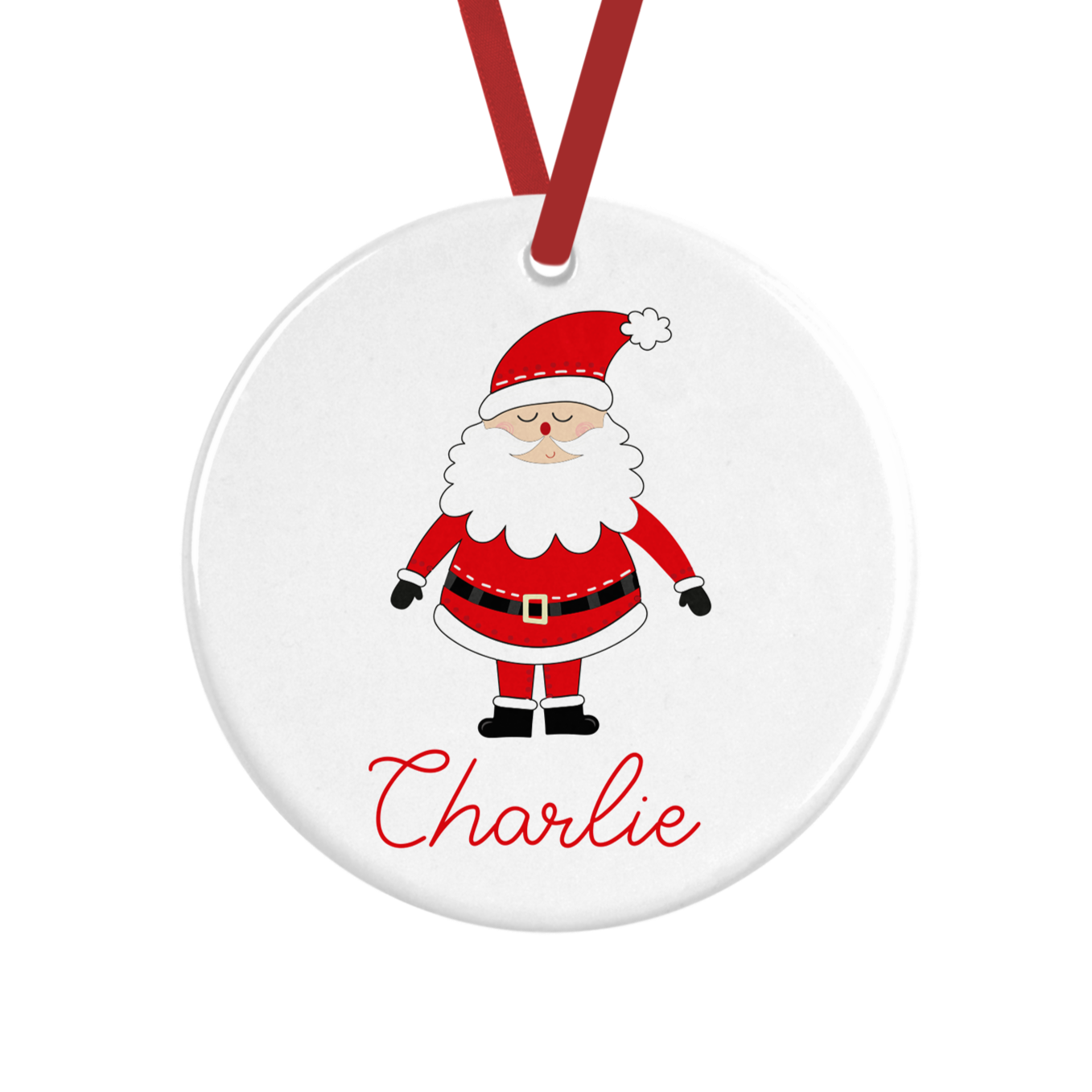 Cute Santa Personalised Christmas Decoration