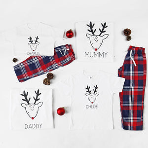 Personalised Matching Family Christmas Pyjamas