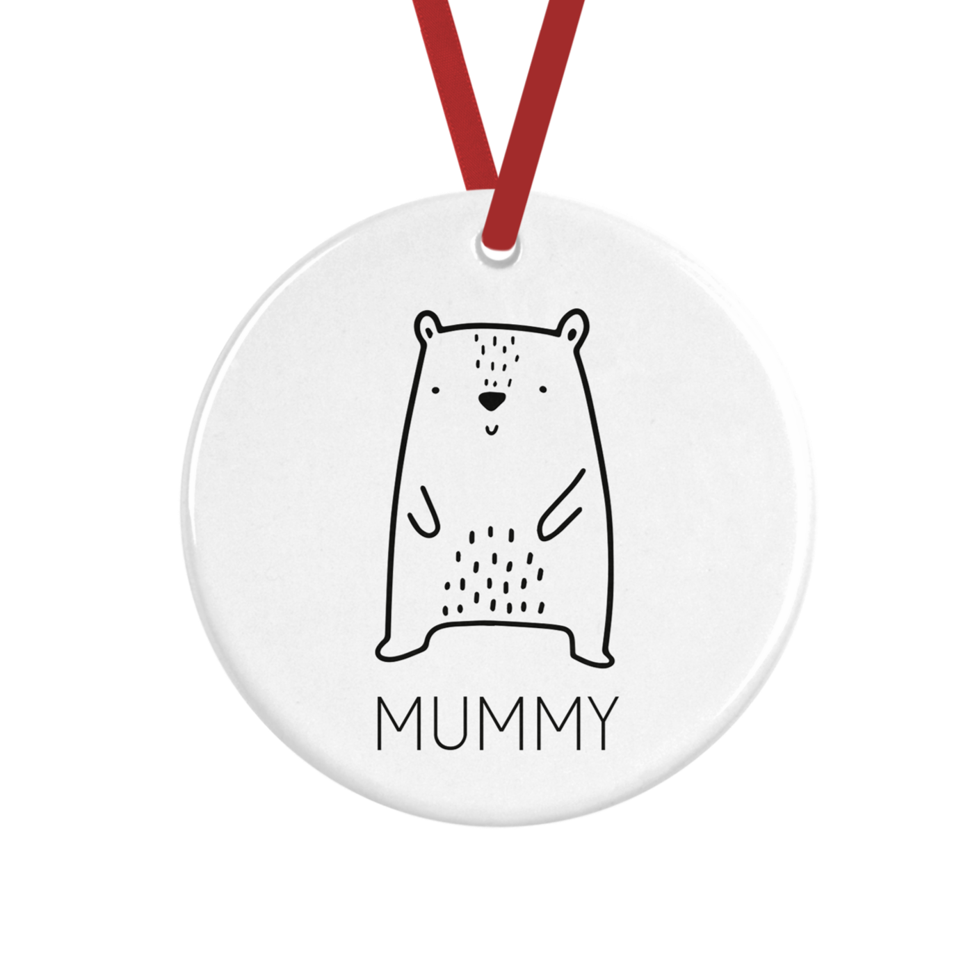 Cute Bear Personalised Christmas Decoration
