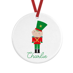 Cute Soldier Personalised Christmas Decoration