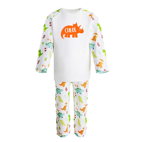 Personalised Dinosaur Print Children's Pyjama Set