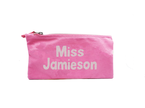 Personalised Glitter Named Teacher Pencil Case