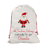 Personalised Line Santa Santa/Gift Sacks (2 Sizes Available)