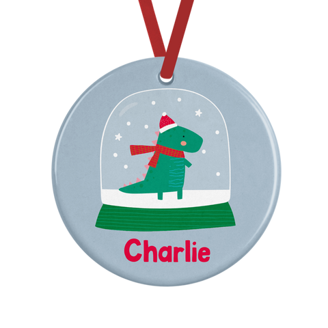 Cute Dinosaur Personalised Christmas Decoration Rachel J Designs