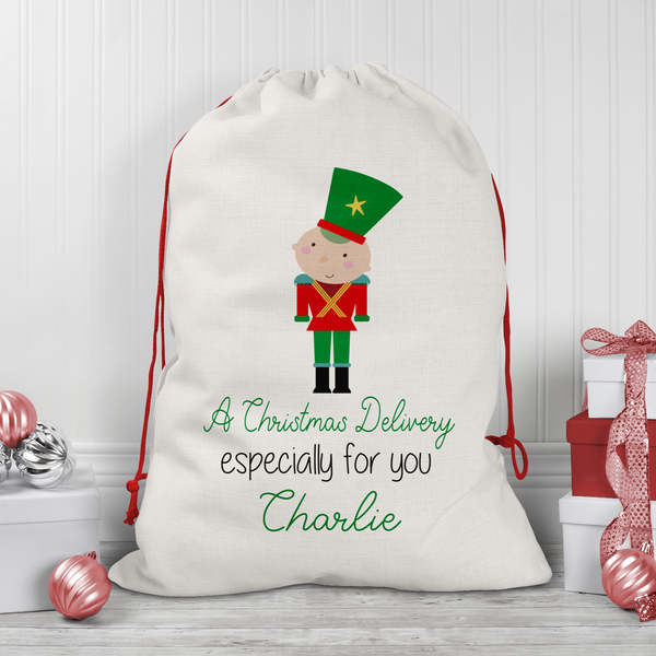 Personalised Line Soldier Santa/Gift Sacks (2 Sizes Available)