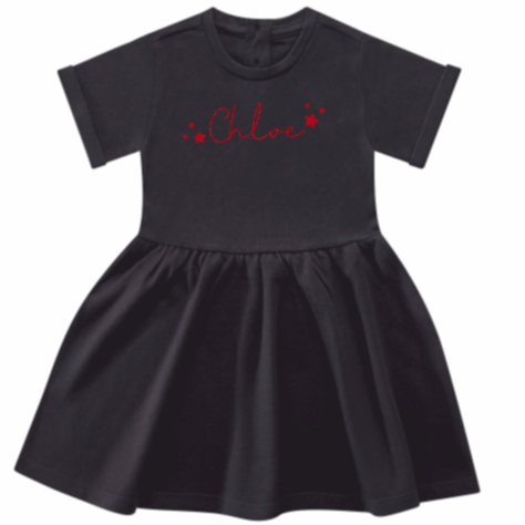 Personalised Cotton Fleece lined Girls/Toddler Christmas Dress