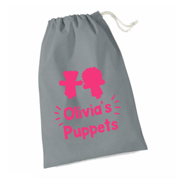 Personalised Puppets Storage Bags Rachel J Designs