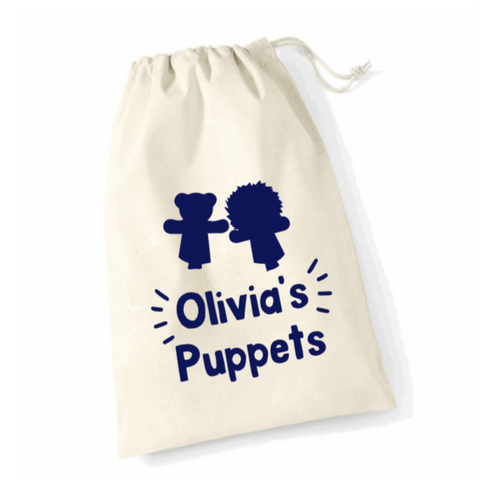 Personalised Puppet Storage Bags