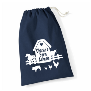 Personalised Farm Animals Accessories Storage Bags Rachel J Designs