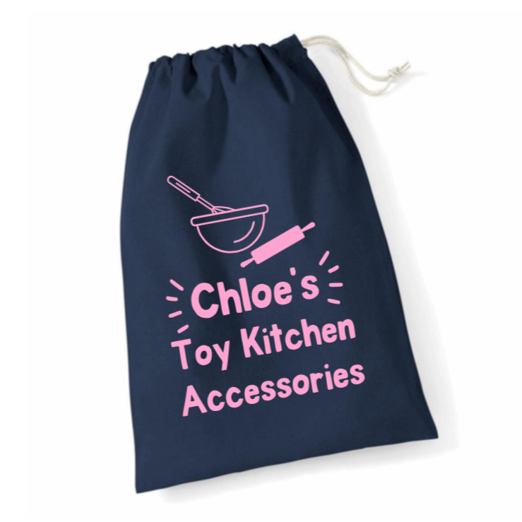 Personalised Toy Kitchen Accessories Storage Bags Rachel J Designs