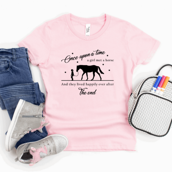 Childrens Once upon a time Horse Tshirt Rachel J Designs