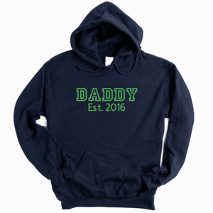 Personalised Daddy Est Hoodie Rachel J Designs