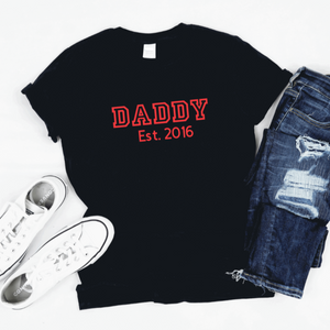 Personalised Daddy Est Tshirt Rachel J Designs