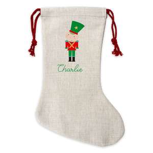 Personalised Soldier Linen Stocking