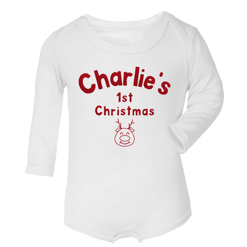 Baby's 1st Christmas Personalised Vest