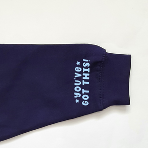 You've Got This Navy and Blue Lightweight Hoodie Rachel J Designs