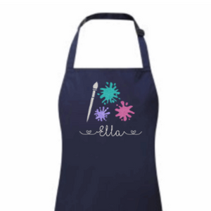 Childrens personalised art apron Rachel J Designs