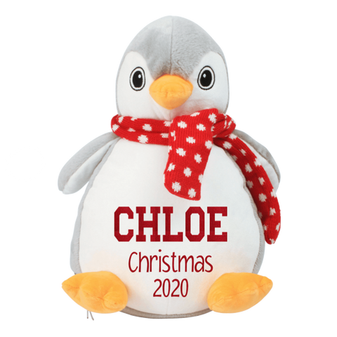 Personalised Christmas Penguin Teddy Rachel J Designs