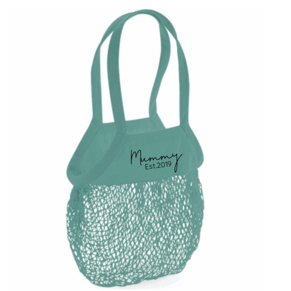 Personalised Organic Cotton Mama Grocery Mesh Bag Rachel J Designs