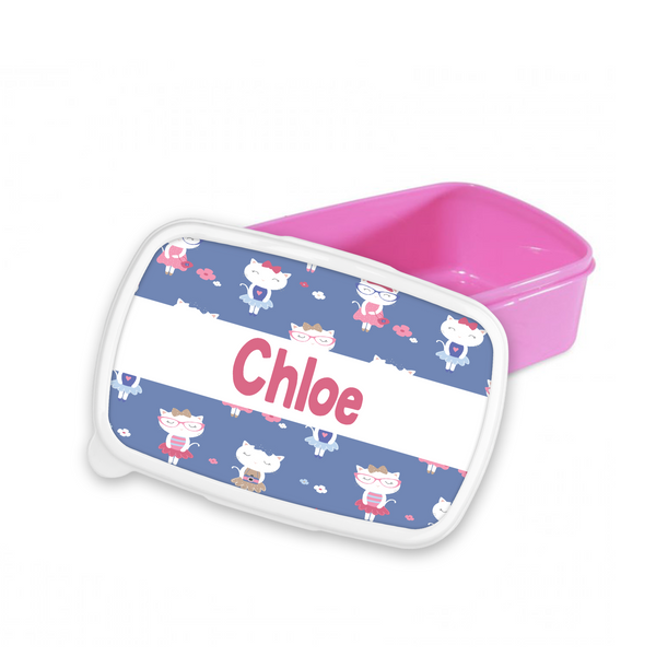 Personalised French Cat Snack/Sandwich Box