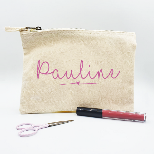 Personalised Glitter Named Pouch/ Make up Bag/ Pencil Case Rachel J designs