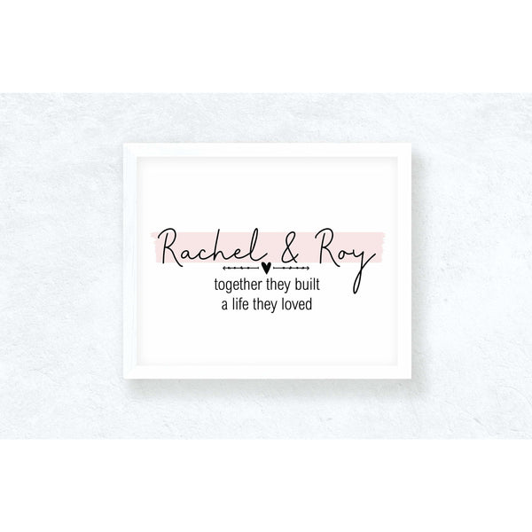 Personalised They built a life they loved, [product_type], Rachel J Designs