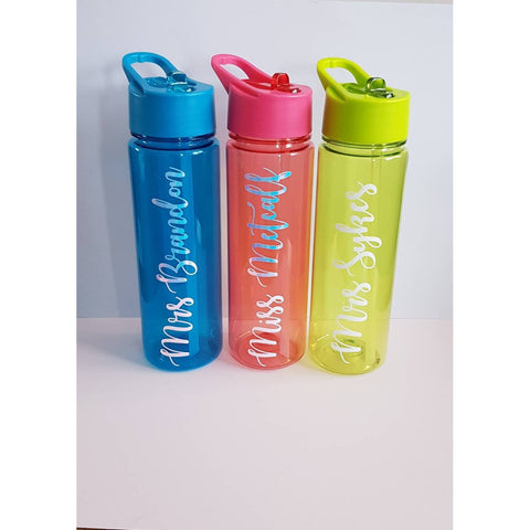Personalised Teacher Water Bottle, Water Bottle, Rachel J Designs