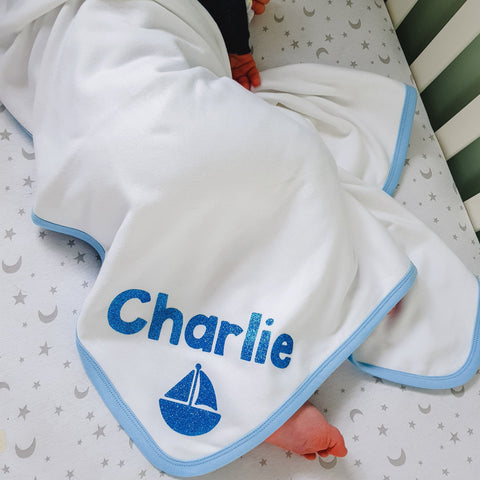Super Soft Personalised Baby Blanket, Clothing, Rachel J Designs