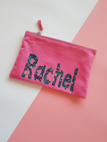 Personalised Patterned Pouch/ Make up Bag/ Pencil Case, [product_type], Rachel J Designs