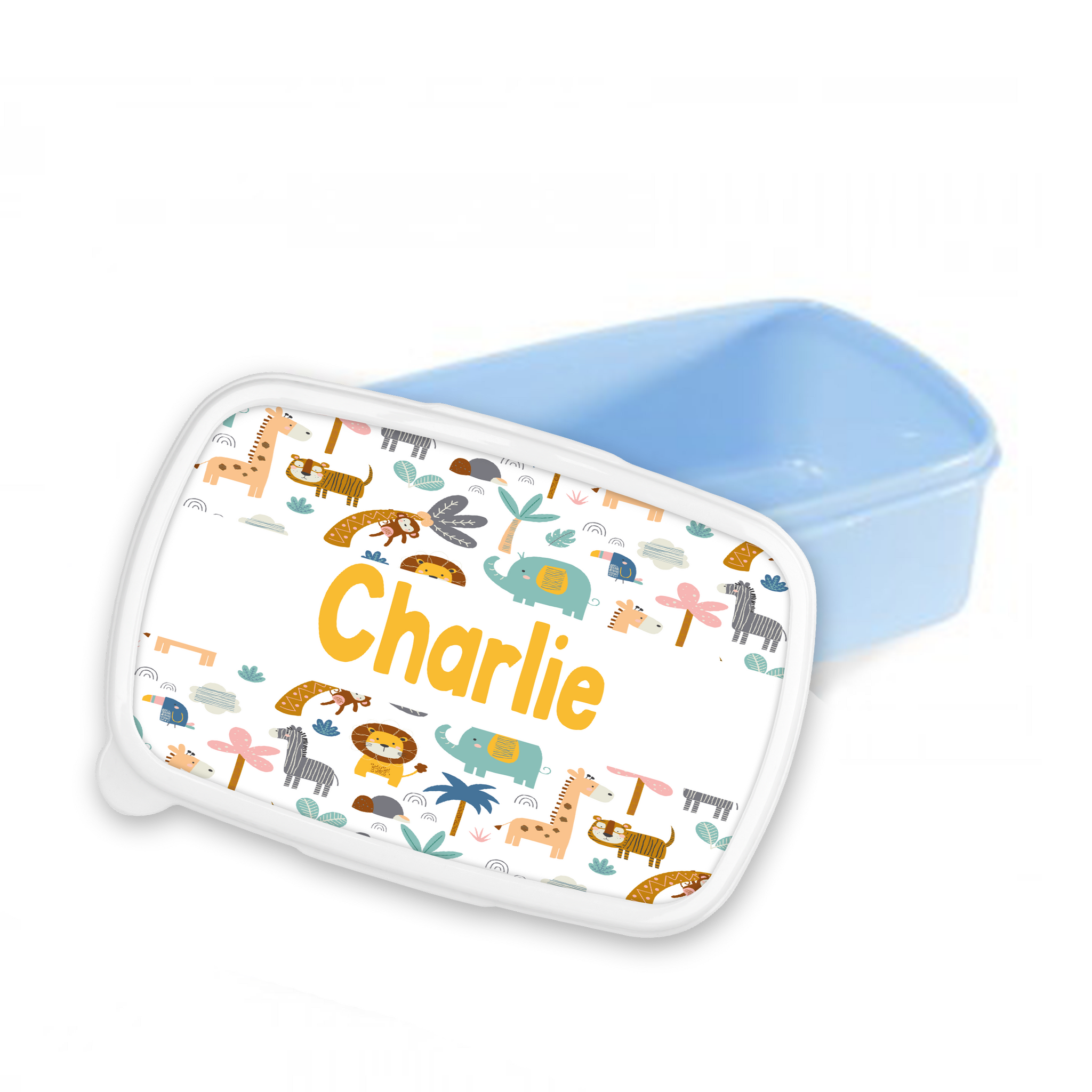 Personalised Jungle Snack/Sandwich Box