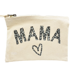 Mama Patterned Pouch/ Make up Bag/ Pencil Case