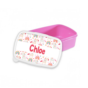 Personalised Unicorn Snack/Sandwich Box