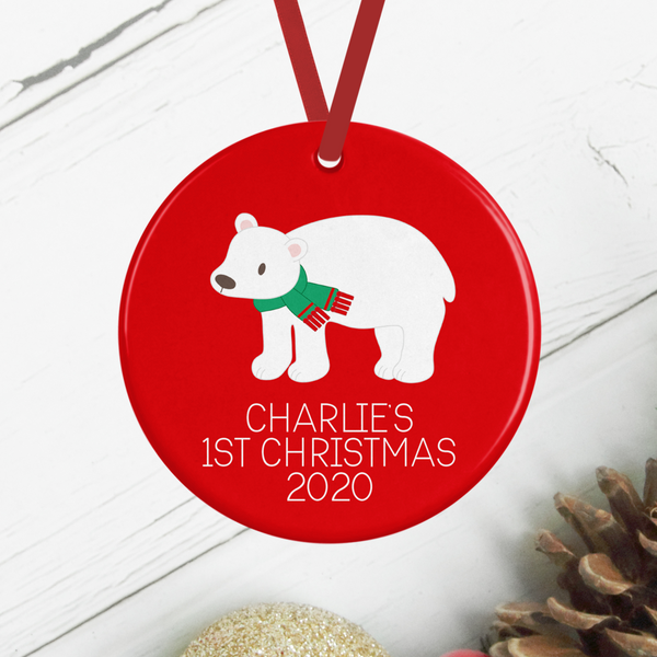 Personalised Baby's First Christmas Fox Decoration Rachel J Designs