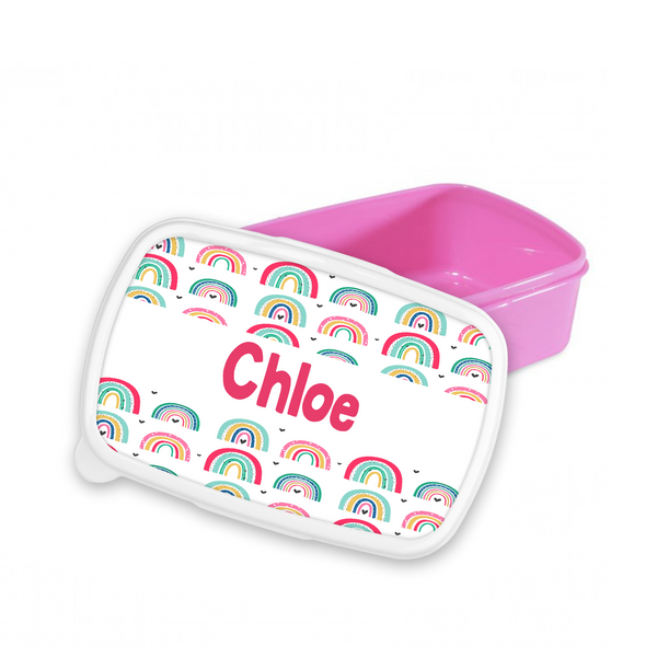 Personalised Rainbow Snack/Sandwich Box