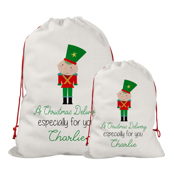 Personalised Line Soldier Santa/Gift Sacks (2 Sizes Available) Rachel J Designs