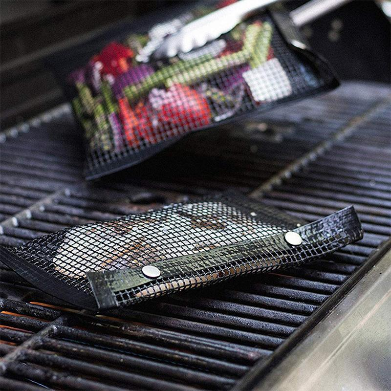 Reusable Non-Stick BBQ Mesh Grill Bags