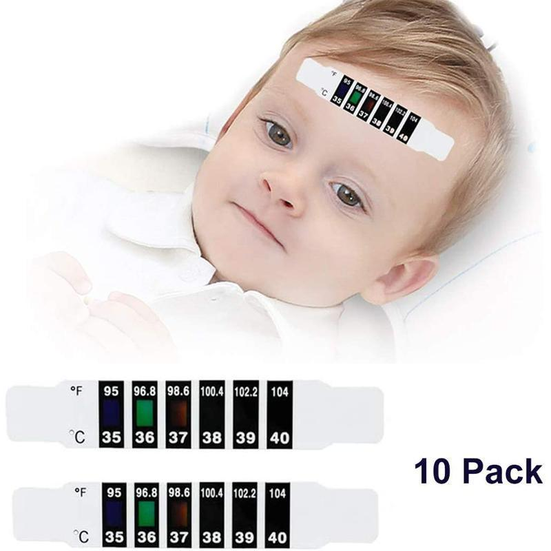 Baby Forehead Thermometer Strip,Temperature Sticker (10PCS)