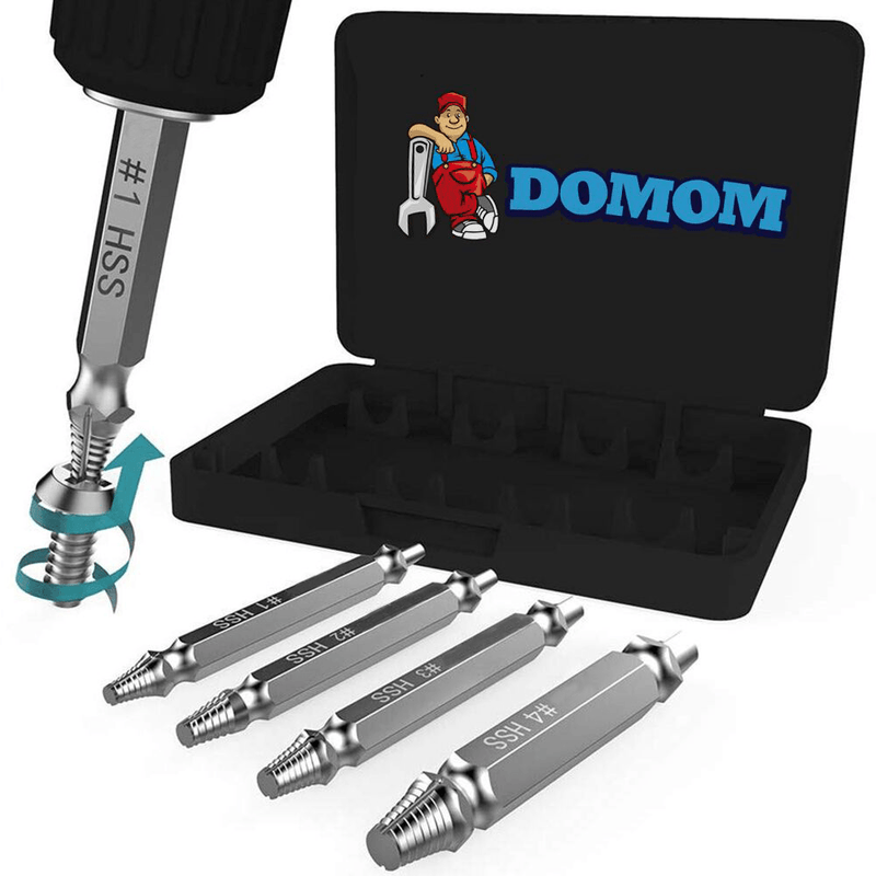 Domom® Damaged Screw Extractor (Set of 4)