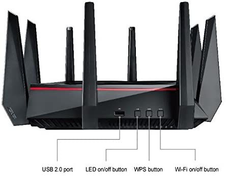 ASUS RT-AC5300 AC5300 Tri-band WiFi Gaming Router