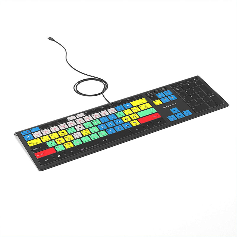 Adobe Premiere Pro CC Keyboard | Backlit PC Windows Edition