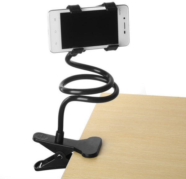 Cell Phone Holder, Universal Mobile Phone Stand, Lazy Bracket, Flexible Long Arms Clip Mount for IPhone, LG