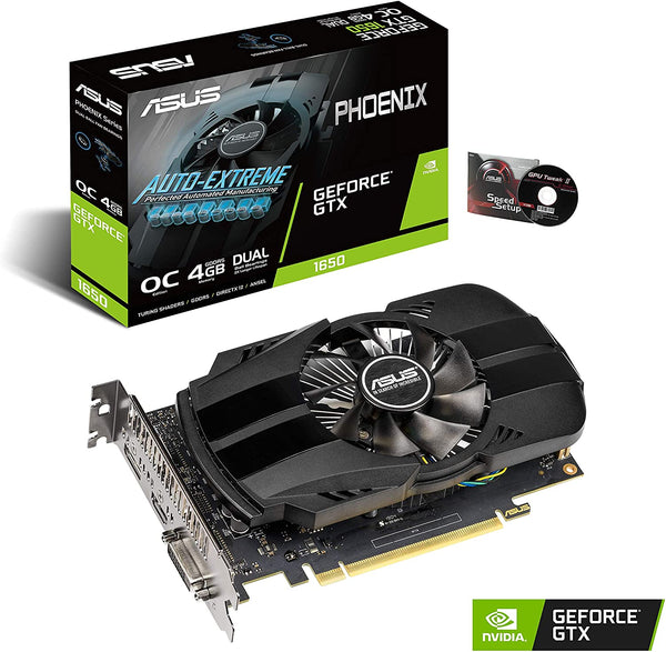 ASUS GeForce GTX 1650 4GB Phoenix Fan Overclocked